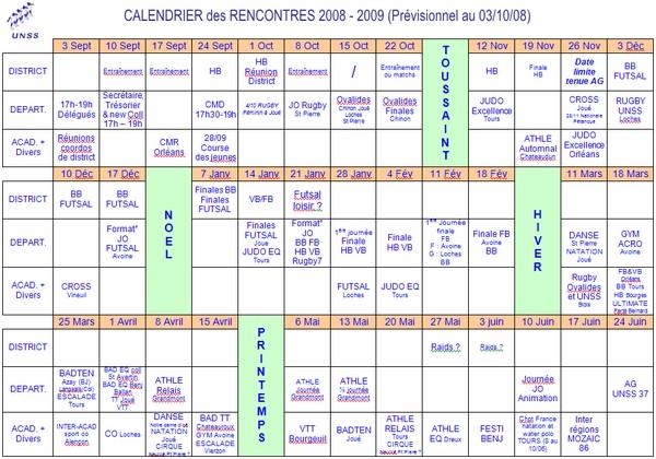 af502bb7048 Collège Jules Romains de SAINT AVERTIN - Calendrier prévisionnel des ...
